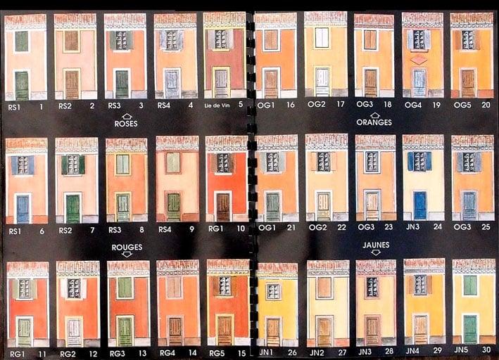Couleurs de badigeons releves en languedoc roussillon for Simulation couleur facade