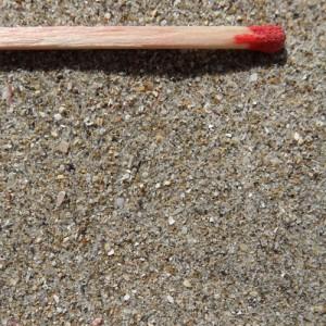 sable mer fin alumette