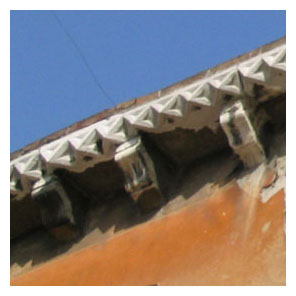 Débord de toiture, génoise, corniche