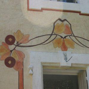 Dessin Art Nouveau réalisé à fresco